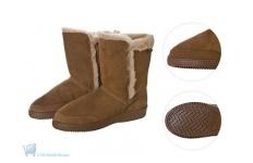 Flyer Herringbone Sole Sheepskin Boots